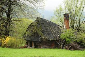 Czech Republic, North Moravia, Beskydy. House with a Collapsed Roof by Petr Bednarik