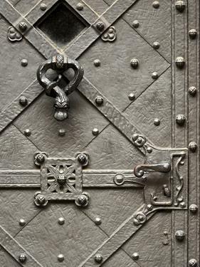 Czech Republic, Prague. Metal Door with a Fine Craftsmanship by Petr Bednarik
