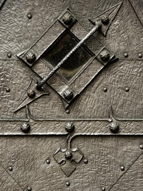 Czech Republic, Prague. Small Metal Window Detail by Petr Bednarik