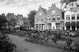 Holland, Zwolle. Black and White, Bicycles in a Parking Place by Petr Bednarik