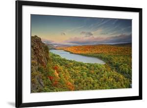 Michigan, Upper Peninsula. Sunset at Lake of the Clouds by Petr Bednarik