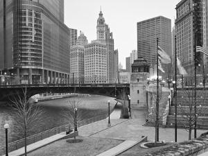 River Walk and Wabash Ave Bridge and Cityscape, Chicago, ILlinois, USA by Petr Bednarik