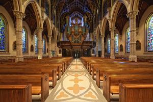 USA, ILlinois, Chicago. Chicago Holy Name Cathedral Interior by Petr Bednarik