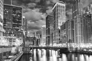 USA, ILlinois, Chicago. La Salle Street Bridge over the River by Petr Bednarik