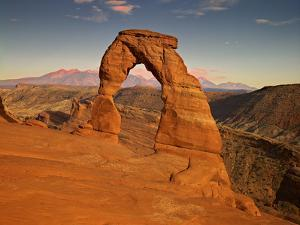 USA, Utah, Arches. Delicate Arch During Sunset by Petr Bednarik