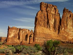 USA, Utah, Arches. Walls of Sandstone in a Sunrise by Petr Bednarik