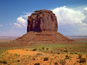USA, Utah, Monument Valley. Mesa in the Middle of the Desert by Petr Bednarik