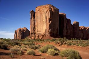 Utah, Monument Valley. Rim of Red Rock Against the Blue Sky by Petr Bednarik
