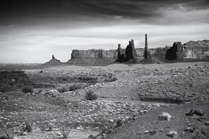 Utah, Monument Valley, Rock Spires and a Path Leading to Them by Petr Bednarik
