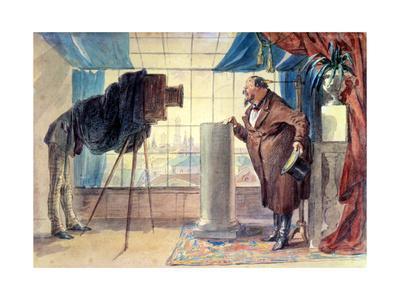 Merchant at the Photographer, 1860S