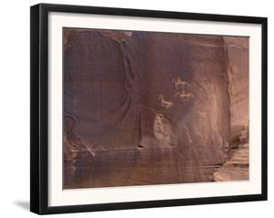 Petroglyphs of Native Americans Hunting on Horseback, Canyon De Chelly, Arizona