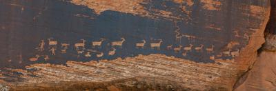 Petroglyphs on Rock, Hunter Panel, Moab, Utah, USA