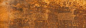 Petroglyphs on Sandstone, Arches National Park, Utah, USA