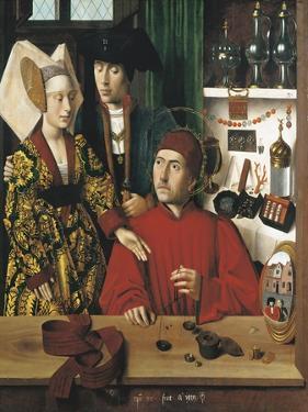Saint Eligius Goldsmith in His Workshop by Petrus Christus