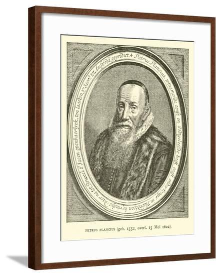 Petrus Plancius, Dutch Astronomer, Cartographer and Clergyman--Framed Giclee Print