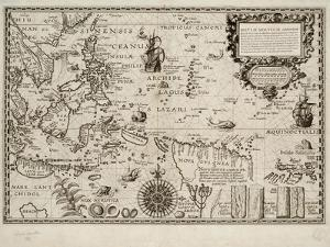Insulae Moluccae Celeberrimae Sunt Ob Maximam Aromatum Copiam Quam Per Totum Terrarum Orbem Mittunt by Petrus Plancius