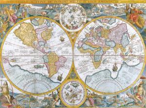 Orbis Terrarum Typus de Intero Multis in Locis Emendatus, 1594 by Petrus Plancius