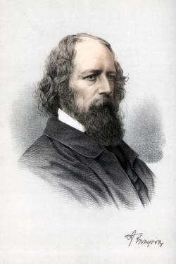 Alfred Tennyson, 1st Baron Tennyson, English Poet, C1890 by Petter & Galpin Cassell
