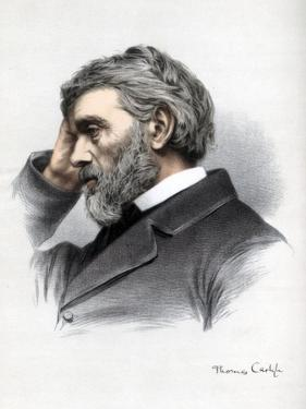 Thomas Carlyle, Scottish Essayist, Satirist, and Historian, C1890 by Petter & Galpin Cassell