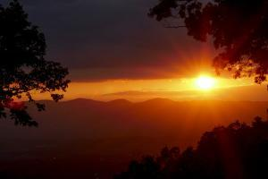 Sunset over the Blue Ridge Mountains by Petteway White