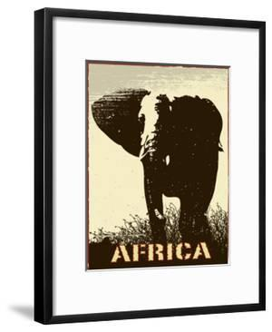Africa Image With Elephant Silhouette by Phase4Photography