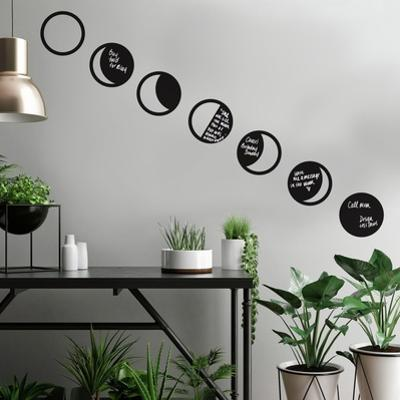 Phases Of The Moon Chalk Peel and Stick Wall Decals