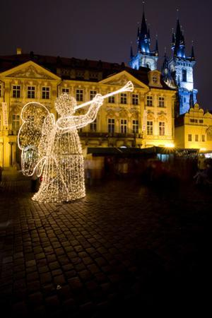 Old Town Square at Christmas Time, Prague, Czech Republic by phbcz