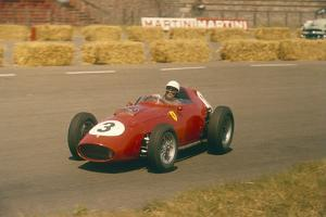 Phil Hill in Action in a Ferrari, Dutch Grand Prix, Zandvoort, 1959