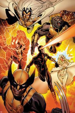 Astonishing X-Men No.35: Storm, Cyclops, Armor, Beast, Wolverine, Frost by Phil Jimenez