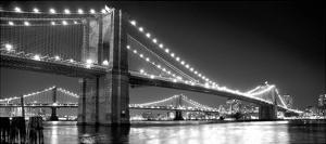 Brooklyn Bridge and Manhattan Bridge at Night by Phil Maier