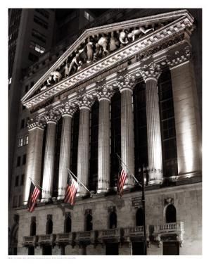 New York Stock Exchange at Night by Phil Maier