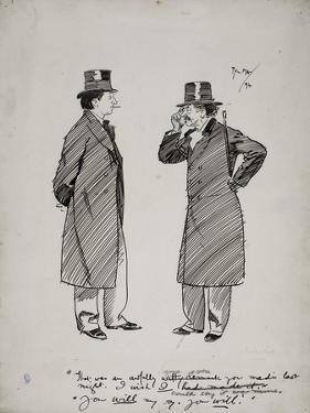 Oscar Wilde and Whistler, 1894 by Phil May
