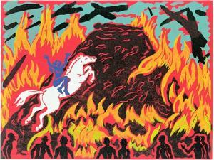 Brunnhilde's Immolation, Illustration from 'Gotterdammerung' by Phil Redford