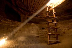 A Reconstructed Kiva in a Cliff Dwelling known as Spruce Tree House in Mesa Verde National Park by Phil Schermeister