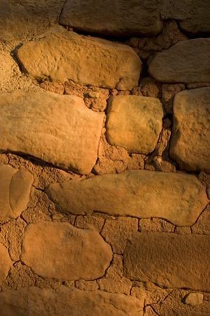 Brick Details of a Cliff Dwelling, Sun Temple, in Mesa Verde National Park by Phil Schermeister