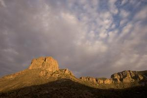 Casa Grande Rock Formation in the Chisos Basin Area of Big Bend National Park by Phil Schermeister