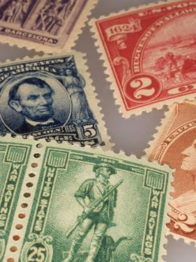 Classic United States Postage Stamps by Phil Schermeister