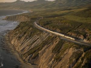 Coast Starlight Train, California by Phil Schermeister