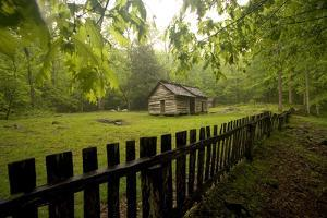 Ephraim Bales Place Along the Roaring Fork Motor Nature Trail, Great Smoky Mountains National Park by Phil Schermeister