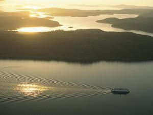 Ferry Travels the Waterways of the San Juan Islands by Phil Schermeister