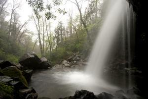 Grotto Falls on the Trillium Gap Trail Near the Roaring Fork Motor Nature Trail by Phil Schermeister