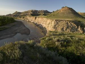 Little Missouri River Flows in Little Missouri National Grasslands by Phil Schermeister