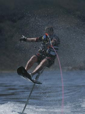 Riding High on an Air Chair While Water-Skiing by Phil Schermeister