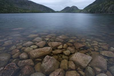 Rock Along the Shoreline of Jordan Pond at Early Morning in Acadia National Park by Phil Schermeister