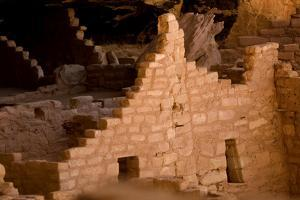 Ruins of a Cliff Dwelling, Long House, in Mesa Verde National Park by Phil Schermeister