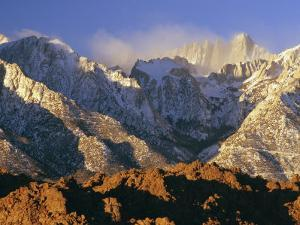 Snow Blows from the Slopes of Mount Whitney by Phil Schermeister