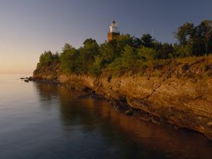The Big Bay Point Lighthouse, Upper Peninsula, Michigan by Phil Schermeister