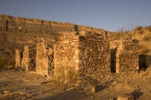 The Remnants of a Stone Farmhouse Built by an Early Settler in Big Bend National Park, Texas by Phil Schermeister