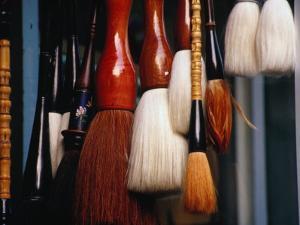 Brushes for Sale in Zuanwu (Qianmen) Bejing, China by Phil Weymouth