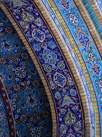 Moasic Detail of Iranian Mosque, Dubai, United Arab Emirates